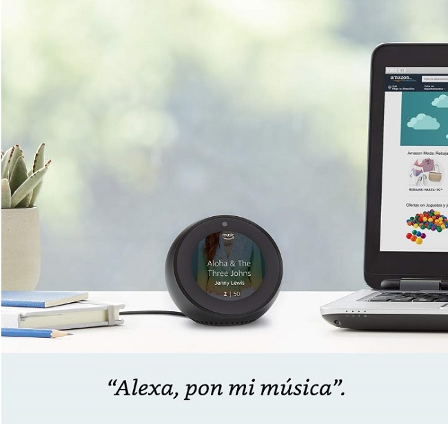 descripcion alexa con amazon echo spot