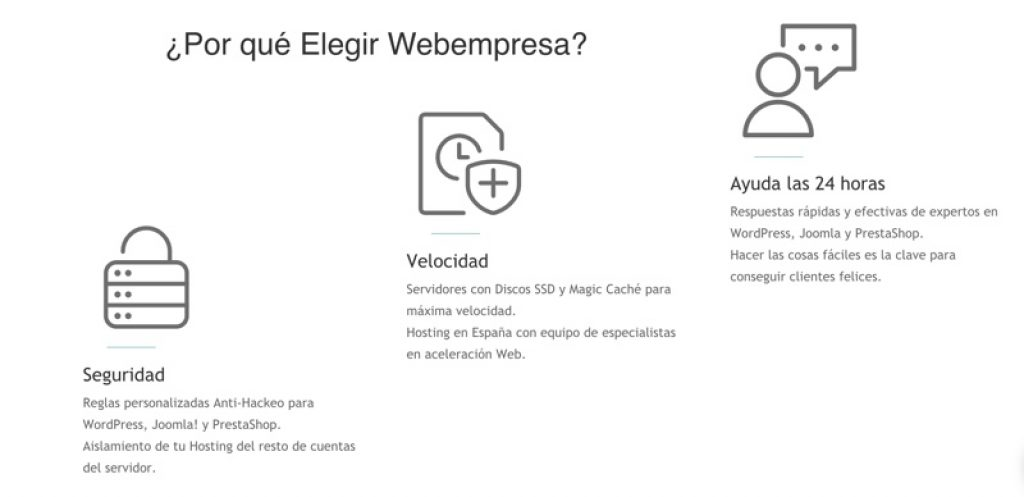 Por qué elegir Webempresa
